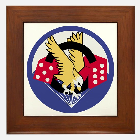 Army-506th-Infantry-Para-Dice-Patch-PN Framed Tile