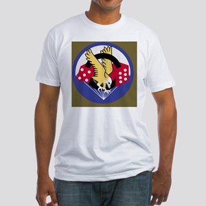 2-Army-506th-Infantry-Para-Dice-Mou Fitted T-Shirt