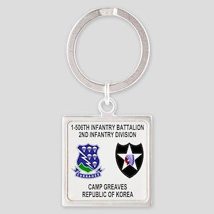 Army-506th-Infantry-Korea-Shirt Square Keychain
