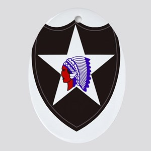 Army-2nd-Infantry-Shoulder-Patch Oval Ornament