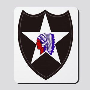 Army-2nd-Infantry-Shoulder-Patch Mousepad