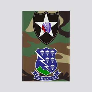 Army-506th-Infantry-2nd-Infantry- Rectangle Magnet