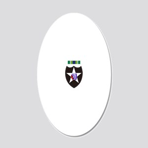 Army-2nd-Infantry-With-Korea 20x12 Oval Wall Decal