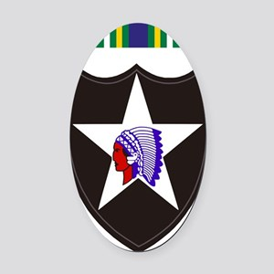 Army-2nd-Infantry-With-Korean-Serv Oval Car Magnet