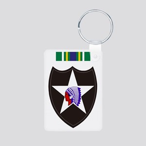 Army-2nd-Infantry-With-Kor Aluminum Photo Keychain