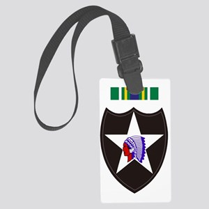 Army-2nd-Infantry-With-Korean-Se Large Luggage Tag