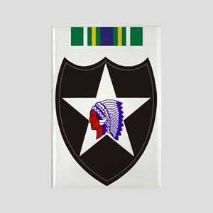 Army-2nd-Infantry-With-Korean-Ser Rectangle Magnet