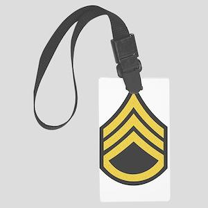 Army-SSG-Gold-Green-Fancy Large Luggage Tag