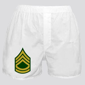 Army-SFC-Gold-Fancy-On-Green Boxer Shorts