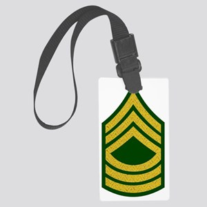 Army-MSG-Gold-Fancy-On-Green Large Luggage Tag
