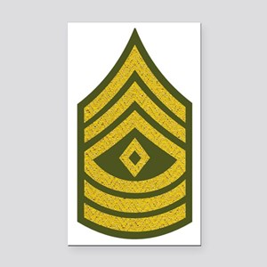 2-Army-1SG-Gold-Green-Fancy Rectangle Car Magnet