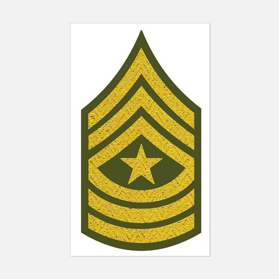 Army-SGM-Gold-Green-Fancy Sticker (Rectangle)