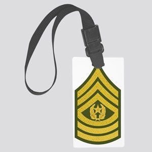 Army-CSM-Gold-Green-Fancy Large Luggage Tag