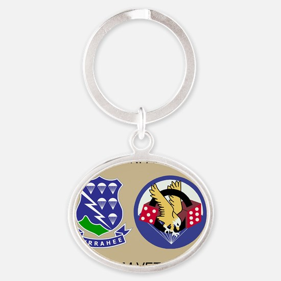 2-Army-506th-Infantry-3-506th-Vietna Oval Keychain