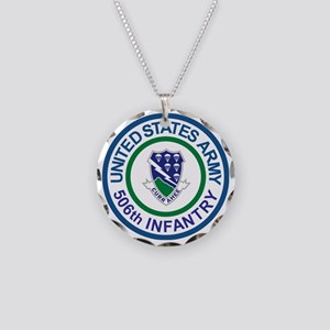 Army-506th-Infantry-Roundel- Necklace Circle Charm