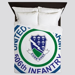 Army-506th-Infantry-Roundel-After-1951 Queen Duvet