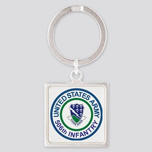 Army-506th-Infantry-Roundel-After- Square Keychain