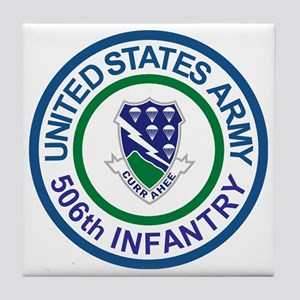 Army-506th-Infantry-Roundel-After-195 Tile Coaster