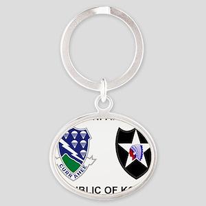 army-506th-infantry-korea-shirt-2 Oval Keychain