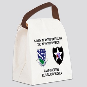 2-Army-506th-Infantry-Korea-Shirt Canvas Lunch Bag