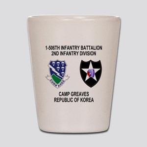 2-Army-506th-Infantry-Korea-Shirt Shot Glass