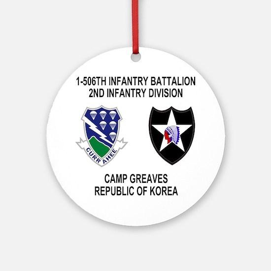 2-Army-506th-Infantry-Korea-Shirt Round Ornament