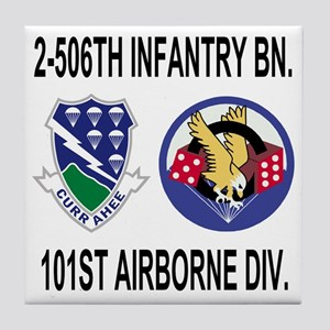 2-Army-506th-Infantry-2-506th-101st-A Tile Coaster