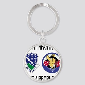 2-Army-506th-Infantry-2-506th-101st Round Keychain