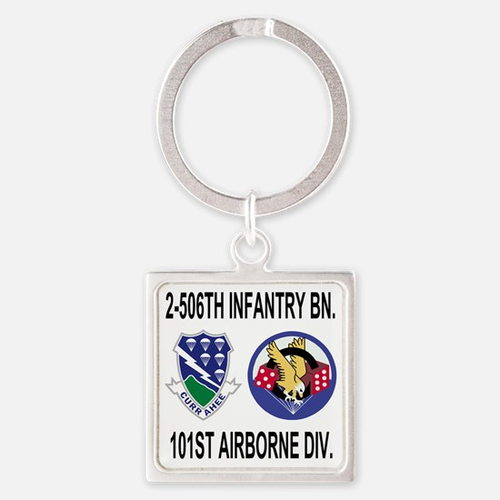 2-Army-506th-Infantry-2-506th-101s Square Keychain