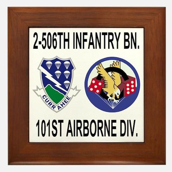 2-Army-506th-Infantry-2-506th-101st-Ai Framed Tile