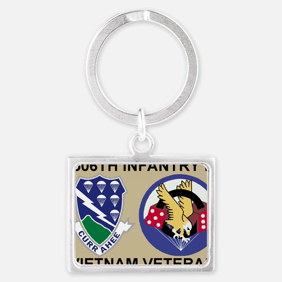 3-Army-506th-Infantry-1-506th-V Landscape Keychain