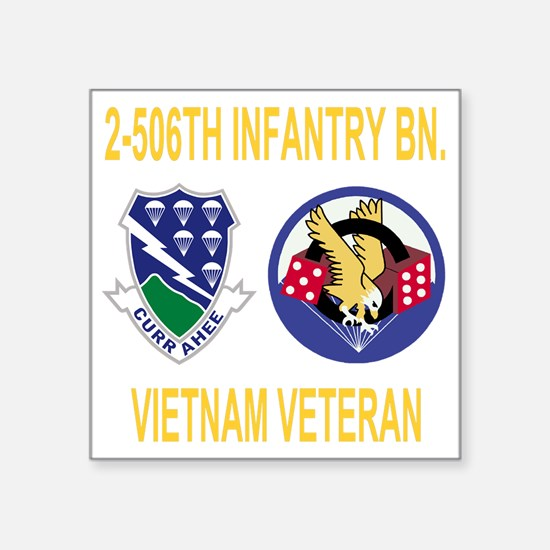 """Army-506th-Infantry-2-506th Square Sticker 3"""" x 3"""""""