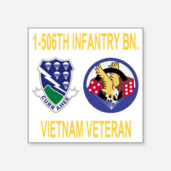 """4-Army-506th-Infantry-1-506 Square Sticker 3"""" x 3"""""""