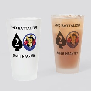 Army-506th-Infantry-2nd-Bn-Shirt-Ba Drinking Glass