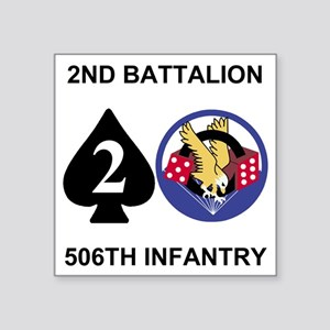 """Army-506th-Infantry-2nd-Bn- Square Sticker 3"""" x 3"""""""