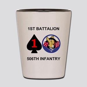 2-Army-506th-Infantry-1st-Bn-Shirt-Back Shot Glass