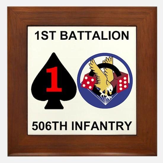 2-Army-506th-Infantry-1st-Bn-Shirt-Bac Framed Tile