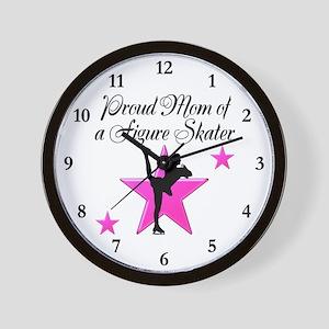 PROUD SKATER MOM Wall Clock