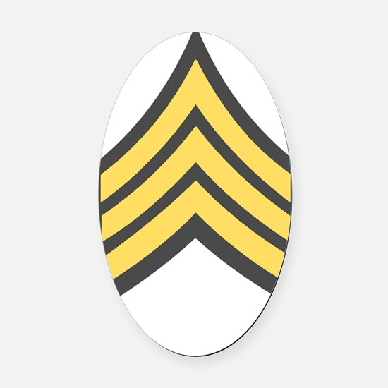 Army-SGT-Green Oval Car Magnet