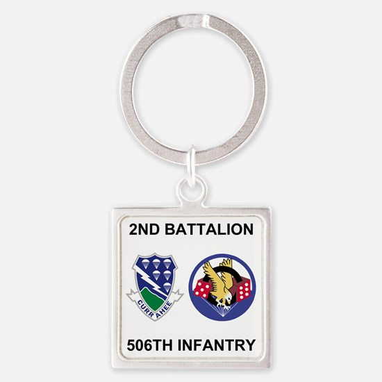 Army-506th-Infantry-BN2-Currahee-P Square Keychain