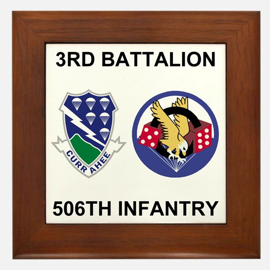 Army-506th-Infantry-BN3-Currahee-Parad Framed Tile