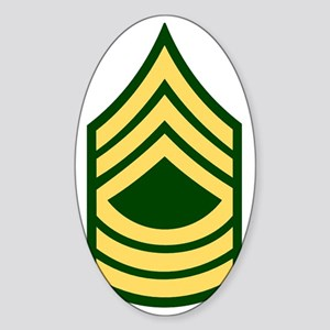 Army-MSG-Green Sticker (Oval)