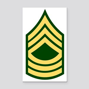 Army-MSG-Green Rectangle Car Magnet