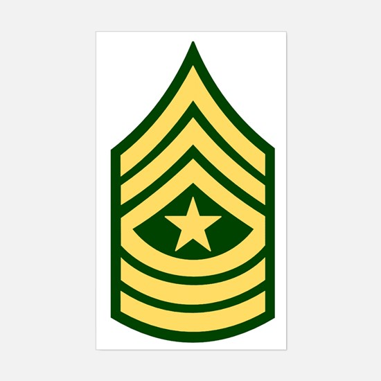 Army-SGM-Green Sticker (Rectangle)