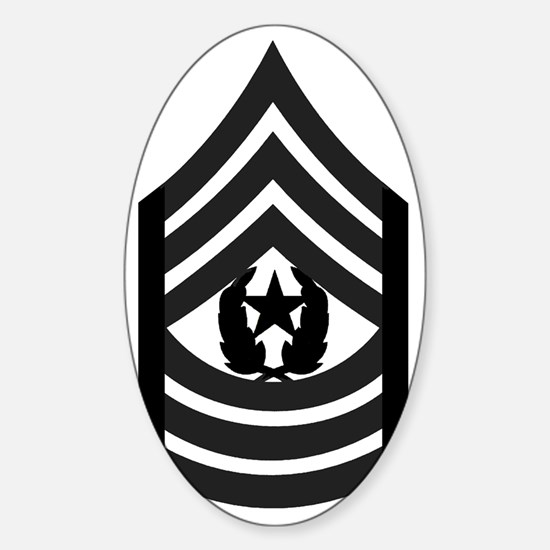 Army-CSM-Subdued-Pin Sticker (Oval)