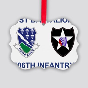 Army-506th-Infantry-Bn1-2nd-Infan Picture Ornament