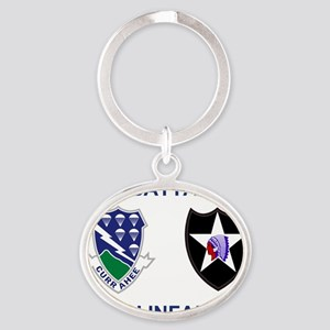 Army-506th-Infantry-Bn1-2nd-Infantry Oval Keychain