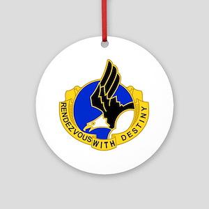 Army-101st-Airborne-Div-DUI-Bonnie Round Ornament