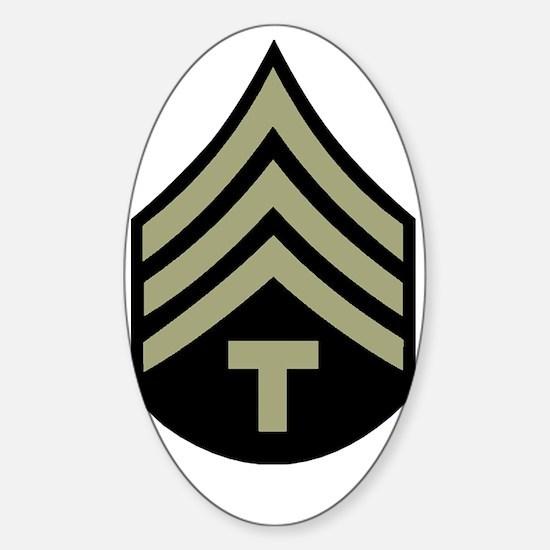 Army-WWII-T4 Sticker (Oval)
