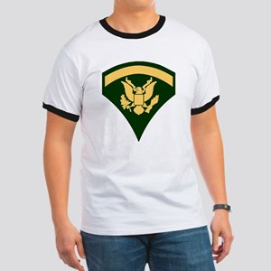 Army-SP5-Green-Four-Inches Ringer T